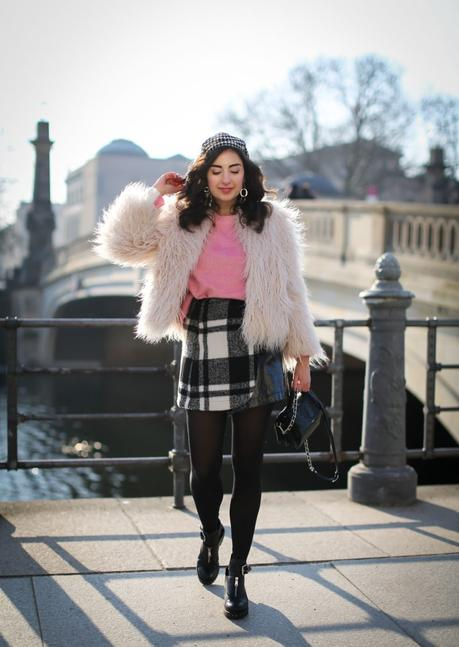 Styling A Checkered Mini Skirt