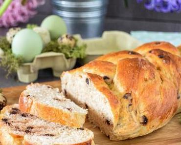 Briochezopf mit Schokostückchen – Osterfrühstück [Lecker für jeden Tag]