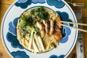 Asia-Fusion: Char Siu Ramen, Pickled Kohlrabi & Shiso