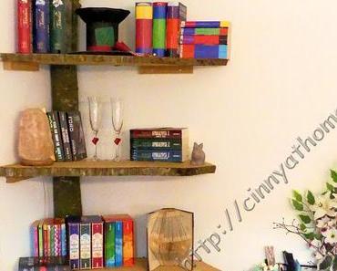 In meinem Wohnzimmer wächst ein Bücherbaum #Regal #NaturPur #DIY