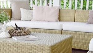 Gemütliche Möbel eure Terrasse Garten