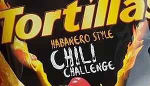 Chio Chips Tortillas Habanero Style Chili Challenge