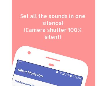 Silent Mode ᴾᴿᴼ (Camera Mute), The Firm und 15 weitere App-Deals (Ersparnis: 26,85 EUR)