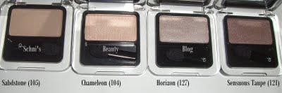 Calvin Klein eye shadows
