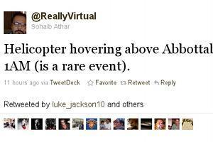 Osama bin Laden tot. Twitter-User aus Pakistan berichtete live vom Angriff.