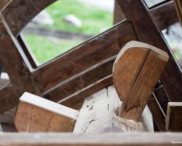 Stampfwalke vom Heimathaus ins Freilichtmuseum Stübing