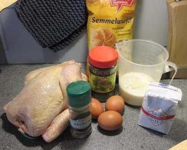 Huhn mit Semmelknödelfülle
