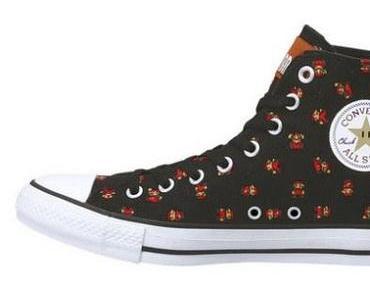 Converse All Star Chucks Nintendo Mario bros. black + white