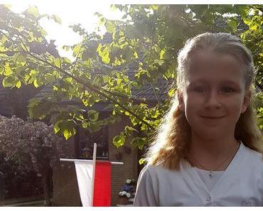Foto: Juliana hat heute Erstkommunion