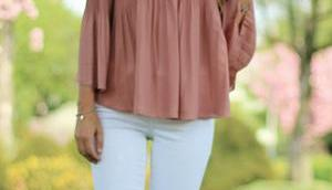 Shoulder Blouse Spring Outfit!