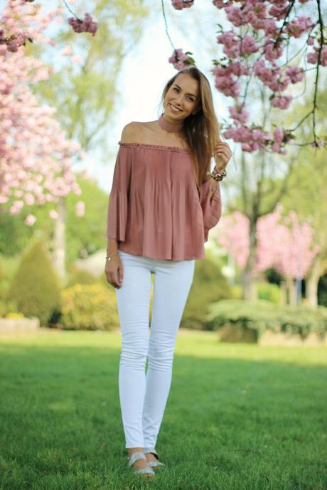Off Shoulder Blouse and a new Spring Outfit!