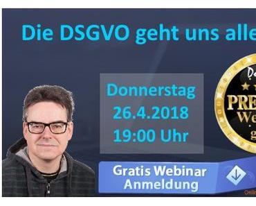 Das DSGVO-Webinar beginnt in wenigen Minuten ...