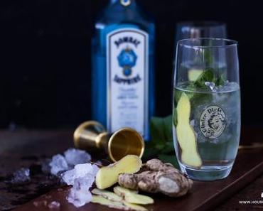 Gin Tonic mit Ingwer und Minze