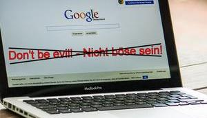"Google kippt sein Motto: ""Don't evil!"""