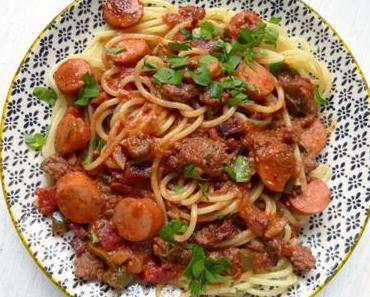 Spaghetti auf philippinische Art