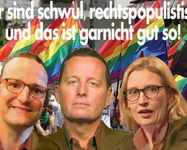 Ich habe ja nichts gegen Homos - aber Jens Spahn, Richard Grenell, Alice Weidel ...