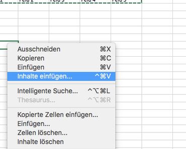 Wie kann in Excel eine Zeile in eine Spalte umwandelt werden?