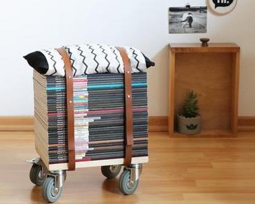 Upcycling Diy: Wie man einen Zeitschriften-Hocker selbst bauen kann