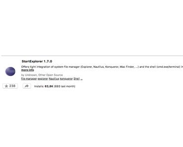 Eclipse Plugin StartExplorer 1.7.0 läuft auch in Eclipse Oxygen 3a (4.7.3a)