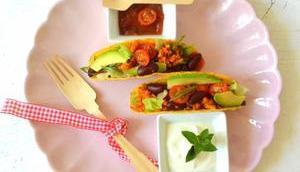 Vegan gefüllte Tacos Limetten-Dip