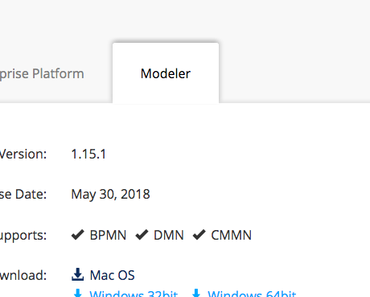 Quicktest: Camunda BPMN Modeler 1.15.1