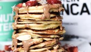 proteinreiche Frühstücksideen Pancakes, Waffeln