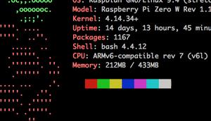 Systeminfos Kommandline ausgeben neofetch nicht Raspberry