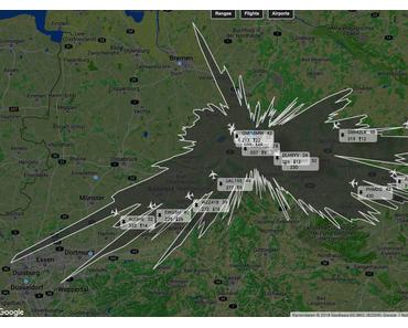 Was empfängt der Rasperry Pi denn so? Ca. 1500 Flugzeuge!