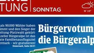 Mariazeller Bürgeralpe gewinnt Kleine Zeitung Platzwahl 2018