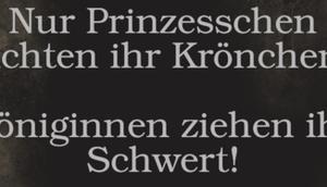 Prinzesschen richten Krönchen....
