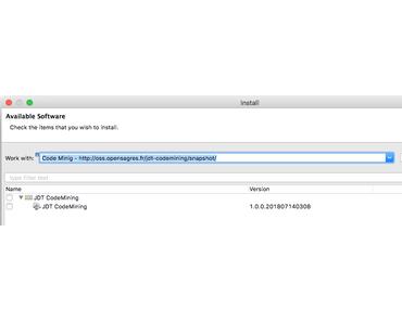 Usability-Verbesserunge: Code Mining (Code CodeLens) mit Eclipse Photon