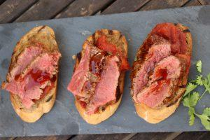 Teriyaki Flanksteak Bruschetta  (WERBUNG)