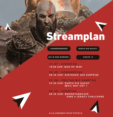 Streamplan KW31: God of War, Durch die Nacht: Devil May Cry und mehr