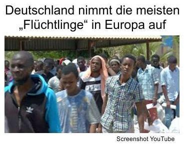 Deutschland erhält die meisten Asylanten in Europa, die gleichzeitig Einwanderer darstellen. Die Gründe sind Geldgeschenke, Luxusversorgungen und Familiennachzüge