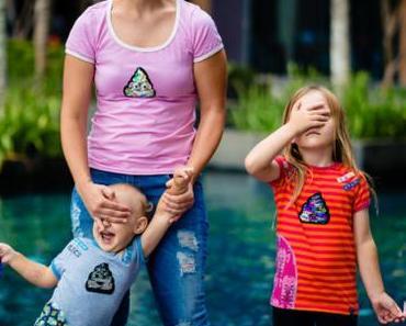 Kackhaufen Wendepailetten Patches für die ganze Familie