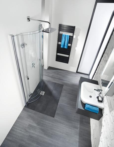 Drehfalttüren als Lösung für kleine Badezimmer