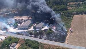 Brand einem Industriegebiet Felanitx gelöscht