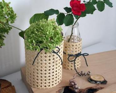 Vasenhusse aus Wiener Geflecht - DIY