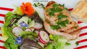 Freitagsfisch: Gegrilltes Thunfischsteak Salat