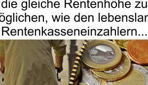 CDU/CSU (aber auch SPD) gönnt Volk keine auskömmlichen gerechte Renten, aber Migration Geld ohne Ende vorhanden