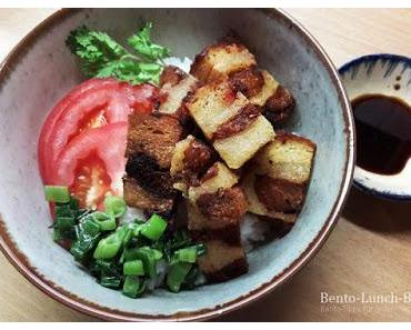 Rezept: Veganer knuspriger Schweinebauch in Charsiu-Marinade