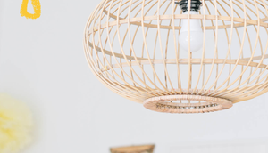 Wohnzimmer Update neuer Vitra Schreibtischstuhl Bambus-Wohnzimmerlampen*