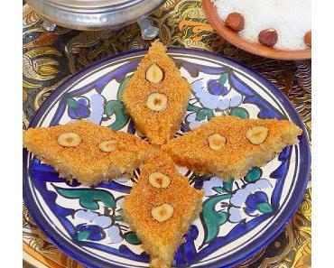 Grießkuchen -Basboussa