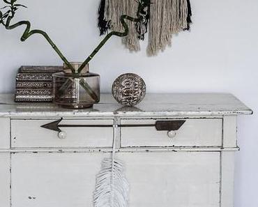 Boho Makramee Feder DIY als Wanddekoration