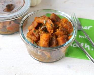 Schnelles Kürbiscurry mit Maronen (vegan)