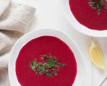 Rote-Bete-Kokos-Suppe mit Ingwer