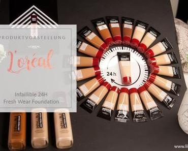 L'Oréal - Infaillible 24h Fresh Wear Foundation - Review & Swatches