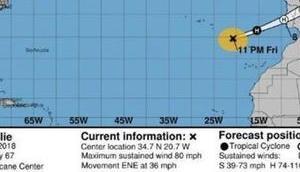 """Hurrikan """"Leslie"""" könnte nächsten Stunden Spanien erreichen"""