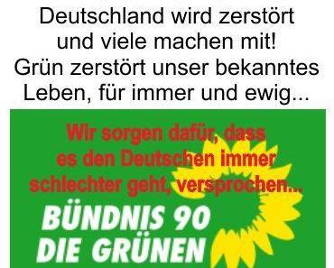 Grüne Ideologien und Phantasien bestimmen Deutschland immer mehr und keiner will sie stoppen. Wo soll das noch hinführen?