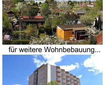 Wohnungsnot und fehlende Baugrundstücke, jetzt geht es an die Hobbygärtner im Kleingartenverein